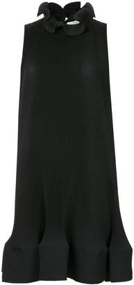 Tibi pleated short sleeveless dress