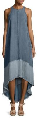 Trina Turk Phlox Hi-Lo Chambray Dress $298 thestylecure.com