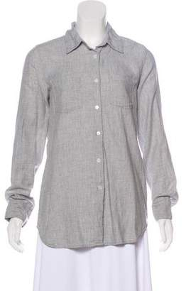 Organic by John Patrick Long Sleeve Button-Up Top