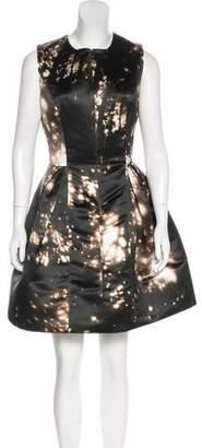 Cushnie et Ochs Printed Satin Dress