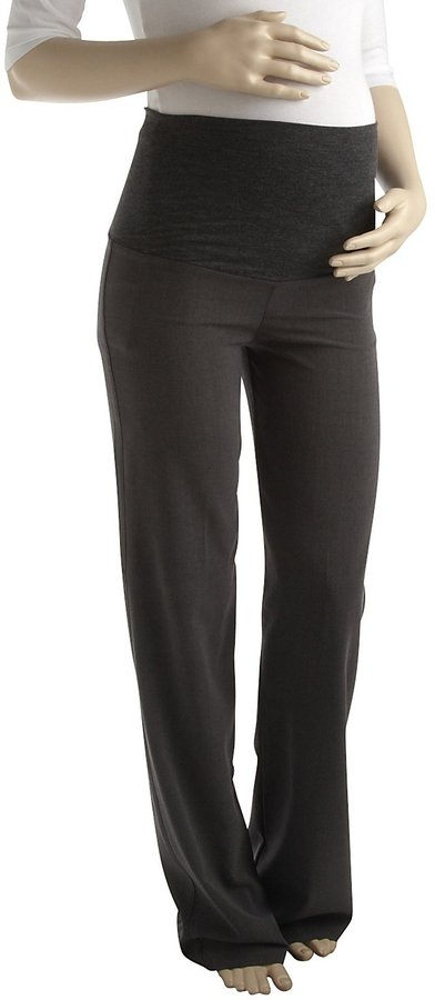 Olian Career Pants - Charcoal-Charcoal-X-Small