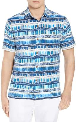 Tommy Bahama Geo Surf Silk Blend Camp Shirt