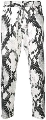 Just Cavalli patterned skinny jeans