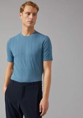 Giorgio Armani T-Shirt With Cut Square Design
