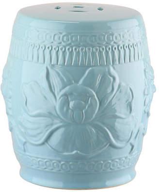 One Kings Lane Dai Mini Garden Stool - Blue