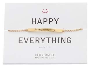Dogeared Happy Everything Thin Bar Station Bracelet