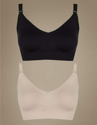 Marks and Spencer 2 Pack Maternity Seamfree Padded Full Cup Bras