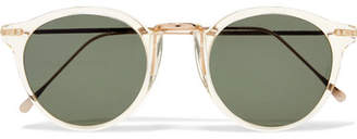 Illesteva Portofino Round-frame Acetate And Gold-tone Sunglasses - one size
