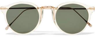 Illesteva Portofino Round-frame Acetate And Gold-tone Sunglasses