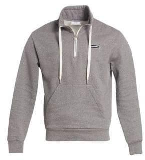 Ami Half Zip High Collar Sweatshirt