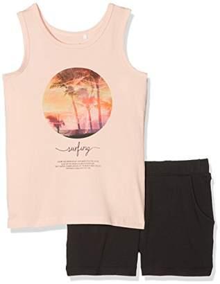 Name It Girl's Nkfzoliday Shortsset Clothing Set,(Manufacturer Size: -128)