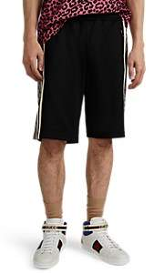 Gucci Men's Logo-Striped Tech-Jersey Shorts - Black