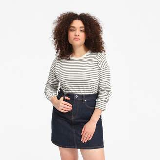 Everlane The Long-Sleeve Box-Cut Pocket Tee