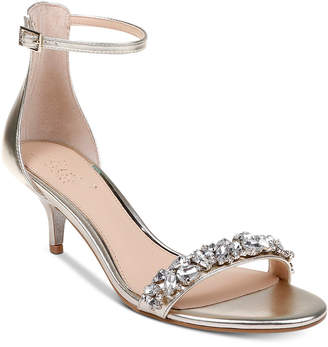 cf169e6d6a9 Badgley Mischka Dash Kitten-Heel Evening Sandals Women Shoes