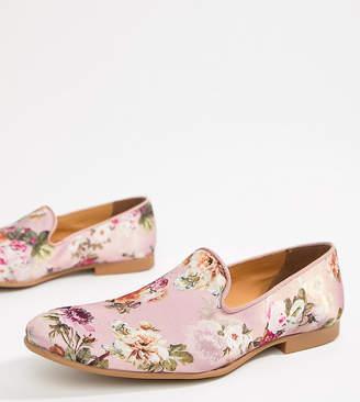 Asos Design DESIGN loafers in pink floral print