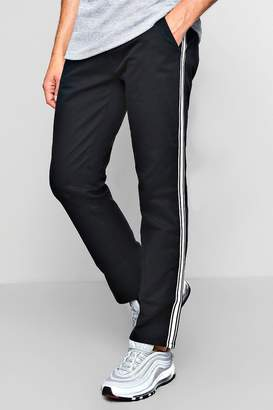 boohoo Side Stripe Slim Chino