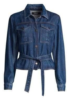 Hudson Jeans Military Tie Denim Jacket