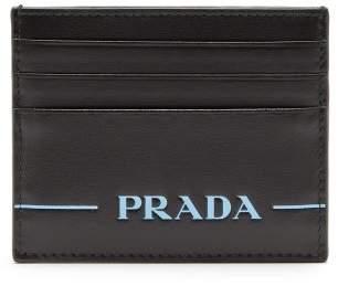 Prada Logo Debossed Cardholder - Womens - Black