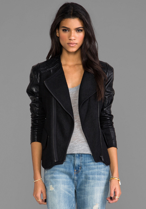 Blank NYC BLANKNYC Jacket with Leather Detail