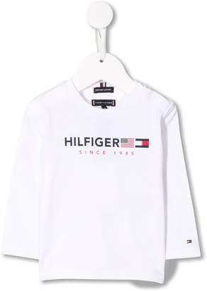 Tommy Hilfiger Junior flag logo printed top