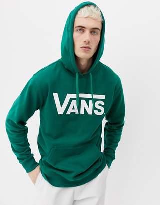 Vans large logo hoodie in green VN000J8NEGR1