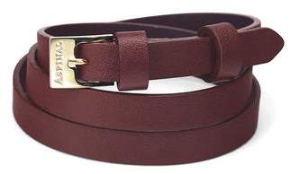 Aspinal of London Mayfair Skinny Double Wrap Leather Bracelet