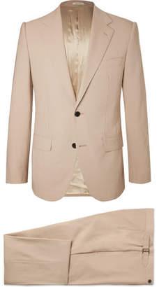 Husbands Cream Slim-Fit Wool Suit