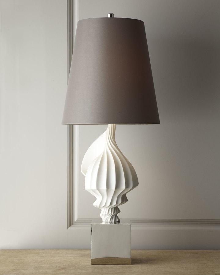 Jonathan Adler White Shell Lamp