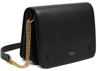 Women's Mulberry Clifton Leather Wallet On A Chain - Black $950 thestylecure.com