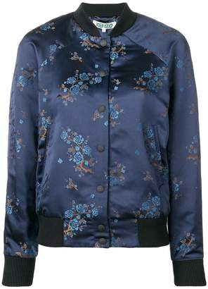 Kenzo floral embroidered bomber jacket