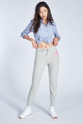 Jack Wills Womens Grey Marl Chatterton Garment Dye Sweatpant - Grey