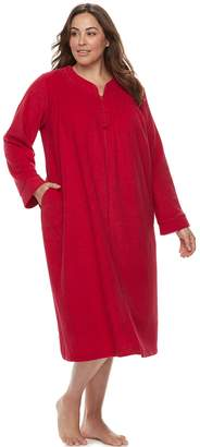 Miss Elaine Plus Size Essentials Brushed Terry Robe