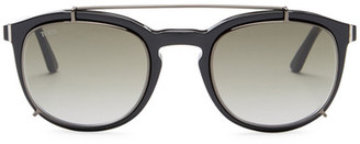 Tod's Women's Clubmaster Acetate Frame Sunglasses $405 thestylecure.com