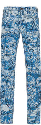 Off-White Tapestry-Printed Toile Jeans