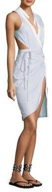 Alexander WangAlexander Wang Asymmetric Wrap Dress