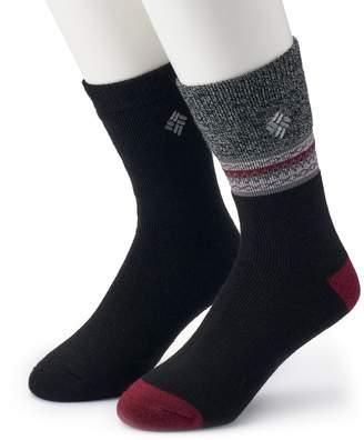 Columbia Men's 2-pack Patterned Thermal Crew Socks