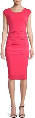 Nicole Miller Women's Cut-Out Cap-Sleeve Midi Dress