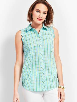 Talbots Scallop Shirt-Island Check