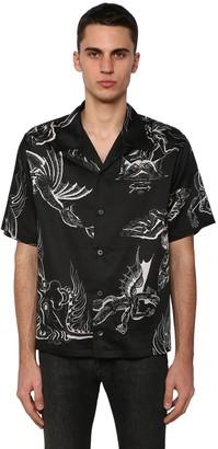 Givenchy Dragon Print Cotton Bowling Shirt