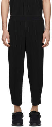 Issey Miyake Homme Plisse Black Cropped Elasticized Trousers