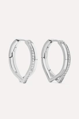 Repossi Antifer 18-karat White Gold Diamond Earrings