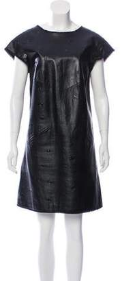 Chanel Embossed Leather Dress