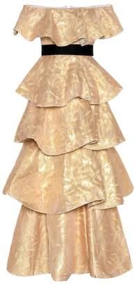 Huishan Zhang Brocade silk dress
