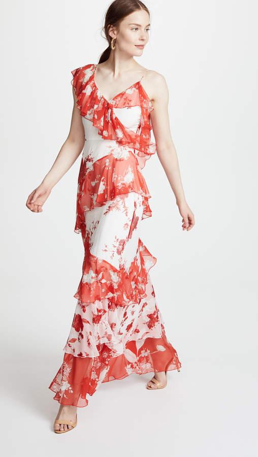 Olympia Asymmetrical Maxi Dress