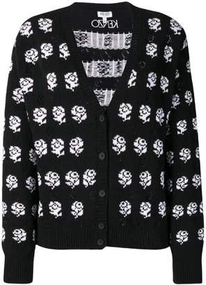 Kenzo rose print cardigan
