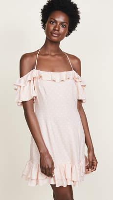 WAYF Tasha Off Shoulder Halter Mini Dress