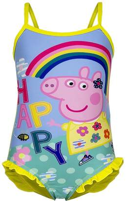 Peppa Pig Happy Rainbow Swimsuit ,Children Swimsuit 2 Colours: Red &