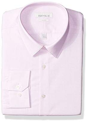 Perry Ellis Men's Slim Fit Performance Dobby Dress Shirt