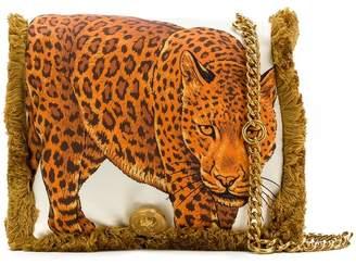 Versace leopard fringed shoulder bag