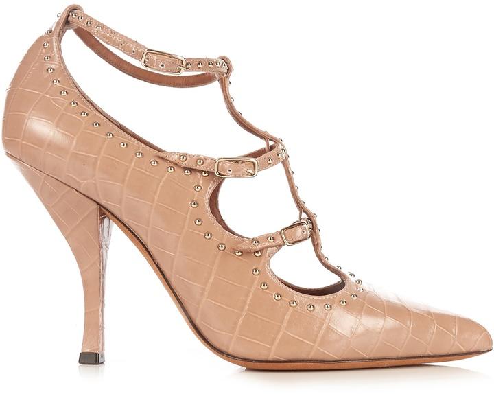 GIVENCHY Escarp stud-embellished leather pumps